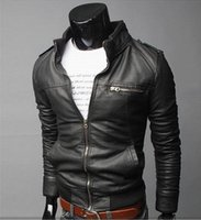 2015 Real Leather Jacket Ceket Ebay Explosion Mens Pu Motorcycle Leather Coat Collar British Men Pure European Version Of Py08