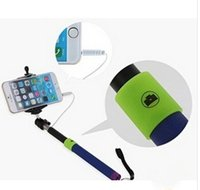 Wholesale 30pcs New Extendable Selfie Phone Camera Handheld Monopod Tripod Stick Remote Shutter Release Wired No Bluetooth for IOS Android OS
