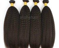 afro kinky human hair - 6A Brazilian Virgin Human Hair Extension Afro Kinky Straight Coarse Yaki Hair Weft Mix Length