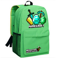 cooler pack - Green weapon Minecraft Creeper face school day pack Good quality Schoolbag Cool bag My world Designer backpack