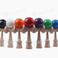 balance ball toy - Kid Kendama Ball Japanese Casual Traditional Jling Game Wood Hand eye Balance Skill Educational Toys Plain Colors Free DHL UPS Factory