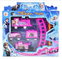 age - 2015 Children Cartoon Froze Print Track Train Set Kids Girls Princess Queen Pink Railway Sets Trains For Ages Kid Baby Toys Toy D3674