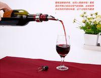 Wholesale Wine bottle opener set red wine bottle opener bottle opener bottle wine stopper pouring device DHL Free sets