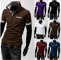 Cheap M-XXL Mens Apparel Clothing T Shirts Casual Slim Fit British T-shirt Polo Shirt T Shirts Short Sleeves Tee 100% Cotton Short Sleeve Shirt
