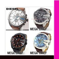 Wholesale new arrival fashion men watch military watch sports men watch high quality big dial leather strap men quartz watch DZ1238