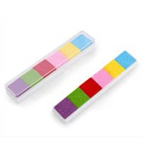 baby safe ink - SZS Hot Light Color Ink Pad Inkpad Rubber Stamp Finger Print Craft Non Toxic Baby Safe