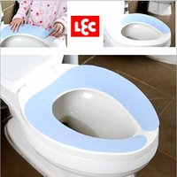 Wholesale LEC Sticky Toilet Mat Hygiene And Comfortable Toilets Seat polyester Seats Pink And Blue Reusable Tailor Stick Mats