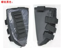 Wholesale Rattlesnake Camo Tactical Military Pouch Holder w Cheek Leather Pad magazine Molle bag for hunting airsoft Rifle gun Stock Ammo