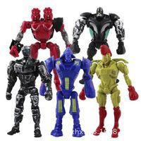action movie news - 5pcs set NEWS x Max Real Steel Toys Atom Midas Noisey Boy Zeus quot Action Figure Kids Fun PlayToy FreeShipping