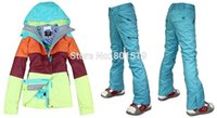 best women s ski suits - new Combination women ski suit best quality color matching snowboard jacket pants waterproof breathable ski wear