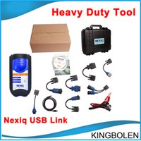 Wholesale 2016 New Arrival NEXIQ USB Link Software Diesel Truck Diagnose Interface and Software with All Installers DHL