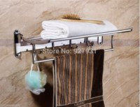 Wholesale And Retail Wall Mounted Folding Bath Towel Shelf Chrome Finish Towel Rack Towel Holder Towel Bar