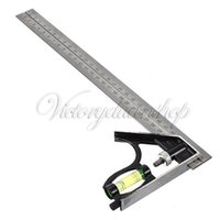 Wholesale Adjustable mm Engineers Combination Try Square Set Angle Spirit Level