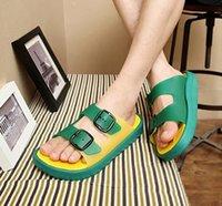 pvc sandals - 2015 Slipper sandals Size Men s Fashion Casual Buckle PVC Clogs Teenagers Preppy Beach Sandals B9113 Shoes men Slipper sandals