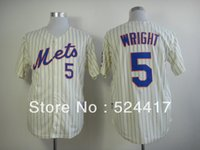 pinstripe baseball jerseys - Free Ship New York Jersey David Wright Cream Pinstripe Baseball Jersey Stitched Embrodery size