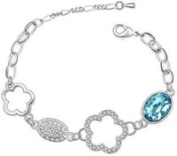 bags anklets - Gift Bag Hotselling Alloy Zircon Austria Crystal Leaves Plum blossom Bracelet Anklet color