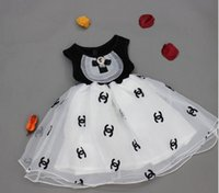 crystal ball wholesale - 2015 Summer Girls Dresses Doublue C CC Crystal Bowknot Sleeveless Dress Tulle Ball Gown Casual Princess Dress Child Clothing Black K4141