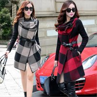 Cheap Women Woolen Coat Best Scoop Neck Long Sleeve Overcoat