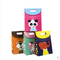 Wholesale Hiot Sale Wedding Gift Bags Paper Candy Bag Cute Animal Pattern Paper Bags Small Bags