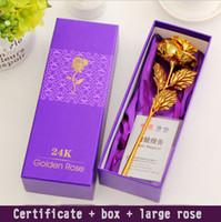 24k gold rose - Gold rose K gold rose gold rose creative mid autumn Valentine s Day gift girlfriend wife birthday