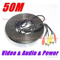 Wholesale 50m Pre made All in One Power Video Audio Cable For CCTV Security Camera