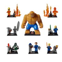 Wholesale Marvel super hero FANTASTIC FOUR SY167 minifigures building block sets DIY classical Toys