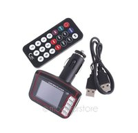 Wholesale with tracking number Car Kit MP3 Player FM Transmitter for SD MMC USB XHQP0022