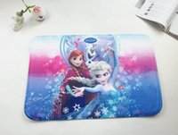 Wholesale 100PCS NEW Frozen ground mat Printed coral fleece mats Cartoon ground mat Customized design DHL size