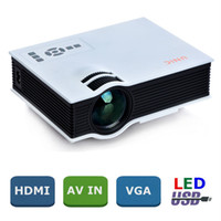 Wholesale 2015 Newest uc40 projector Korean Mini Pico portable Projector AV VGA A V USB SD with VGA HDMI Home Theater Projectors projetor beamer