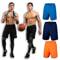 Wholesale Men Leisure shorts Profession Orange Knee Length shorts Outdoors Running Fitness Trousers Quick Dry Training Blue New Fashion