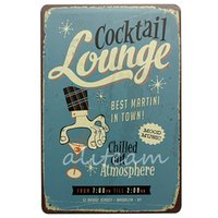 Wholesale New Arrival Cocktail Lounge Pub Wall Garage Home Deco Shop Vintage Sign High Quality Tin Metal Plaque Painting Poster x300mm order lt no
