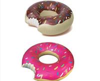 500PCS / lot, el más nuevo de chocolate Gigantic Donut Swiming anillo de la natación del flotador de Verano Water Fun Piscina Juguetes libre de DHL / FedEx / UPS