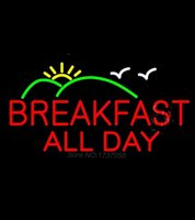 animated air - Breakfast All Day Animated Clear Backing Neon Sign Real Glass Tube Neon Light Sign Avize Neon Nikke Air Jorddan Neon