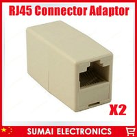 cat5 rj45 socket - FREE SHIP High quality RJ45 Connector Adaptor CAT5 Network Ethernet Modular jack Extension socket adapter