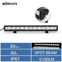 "Cheap 1pc 20"" 60W Cree Single Row LED Daytime Running Light Bar Spot Beam Off-road Car SUV Truck Boat Light Work Lamp 6000K"
