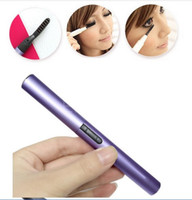 Wholesale New electric Foldable Heated Eyelash Curler pen shape Eyelash Curler heated eyelash curler