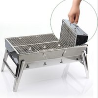 Wholesale Cheap high Quality Stainless steel grill home Portable Foldable charcoal grill Outdoor grill outdoor Potluck Parties Best Choice