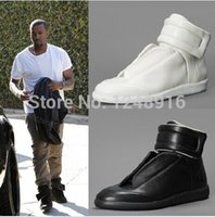 hip hop shoes - Margiela Promotion Kanye West Fashion Sneakers Genuine Leather Hi Stree Maison Martin Hip Hop Casual Men Sports Shoes