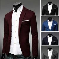 Acheter Costumes conception hommes-Hot Sale 2015 Nouvelle marque de marque Hommes Blazer Veste Manteaux Slim Fit Stylish Blazers For Men, Business Casual blazer veste homme
