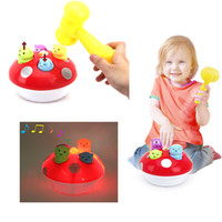 Wholesale Baby Music Light Play Knock Hamster Toy Baby Developmental Educational Toy Pop Xmas Gift