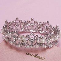 Wholesale High quality Romantic Women Fashion Rhinestone Crystal Stone Hair Jewelry bride dress headdress Headwear accessories