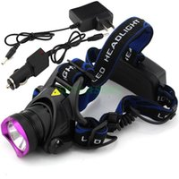 Wholesale Type CREE XM L T6 LED Headlamp Headlight AC100 v Flashlight Head Lamp Light Lumens Car Charger Charger