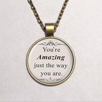 amazing handmade jewelry - you are amazing just the way you are pendant necklace for women glass cabochon pendant necklace handmade jewelry