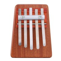Wholesale 5 Key Mbira Finger Thumb Piano Solid Rosewood Education Music Toy Musical Instrument for Music Lover and Beginner order lt no track