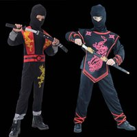 Wholesale New Year Ninja Costumes Costume Cosplay Fancy Dress Boys Children Cosplay New Year Show Theme Apparel