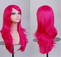 Wholesale Ms wire high temperature dynamic cartoon wig rosy red wig caps cm long