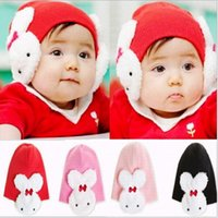 Wholesale Lovely Rabbit Baby Toddler Winter Ear Flap Warm Hat Beanie Caps Boys Girls New
