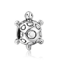 Wholesale 925 Sterling Silver tortoise Charm beads For Snake Chain European Bracelets X027