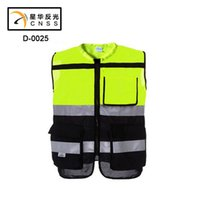bicycle safety clothing - Reflective safety clothes Motorcycle Bicycle Racing High Visibility Reflective Warning Cloth Jacket Vest