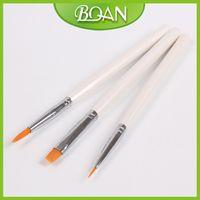 Wholesale X Brand New Acrylic Paint Brush Set Gel Nails Supplies Wood Brush Kolinsky